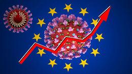 EU Flagge Neuzulassungen Corona