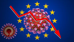 EU-Neuzulassungen Europa Flagge Corona