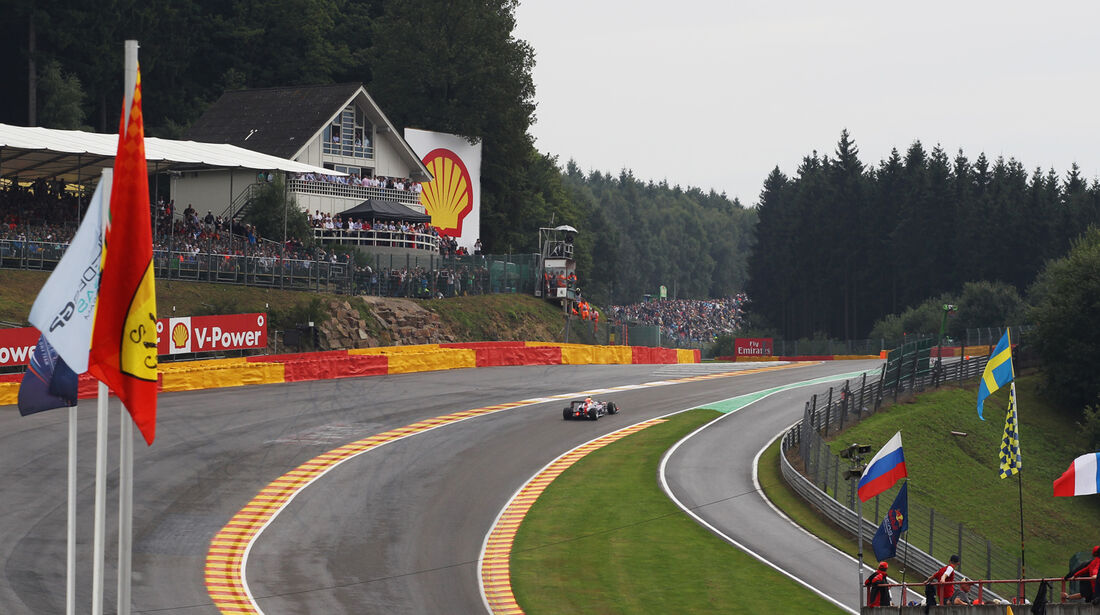 Eau Rouge - Formel 1 - GP Belgien - Spa-Francorchamps - 24. August