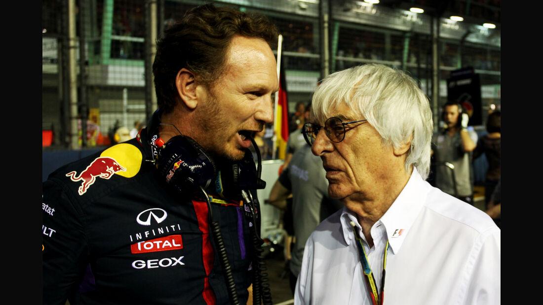 Ecclestone & Horner - GP Singapur 2014