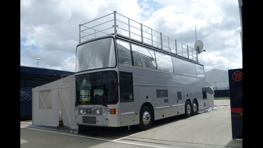 Ecclestone-Motorhome - GP England - Silverstone - Do. 7. Juli 2011