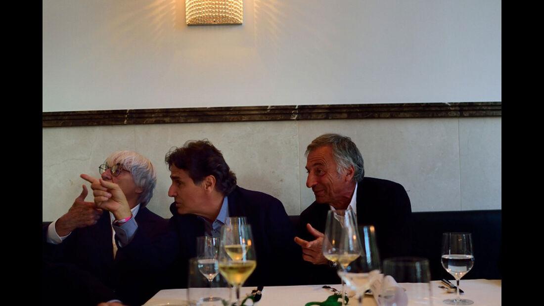 Ecclestone - Piquet - Patrese - Champions Dinner - GP Österreich 2015
