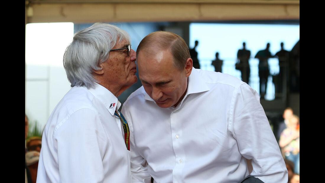 Ecclestone & Putin - GP Russland 2014