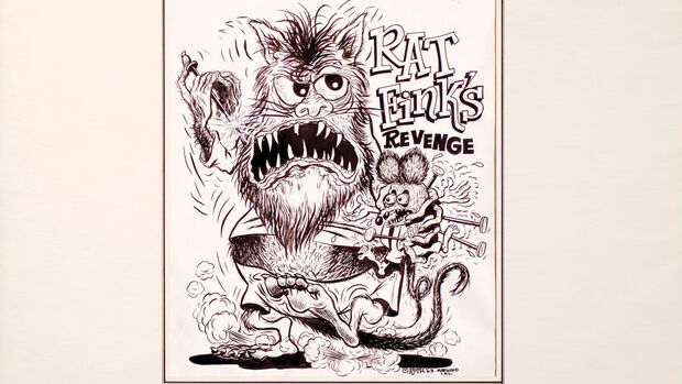 Ed Roth Zeichnung Rat Fink