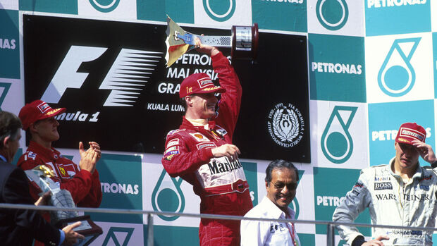 Eddie Irvine - Michael Schumacher - Mika Häkkinen - GP Malaysia 1999