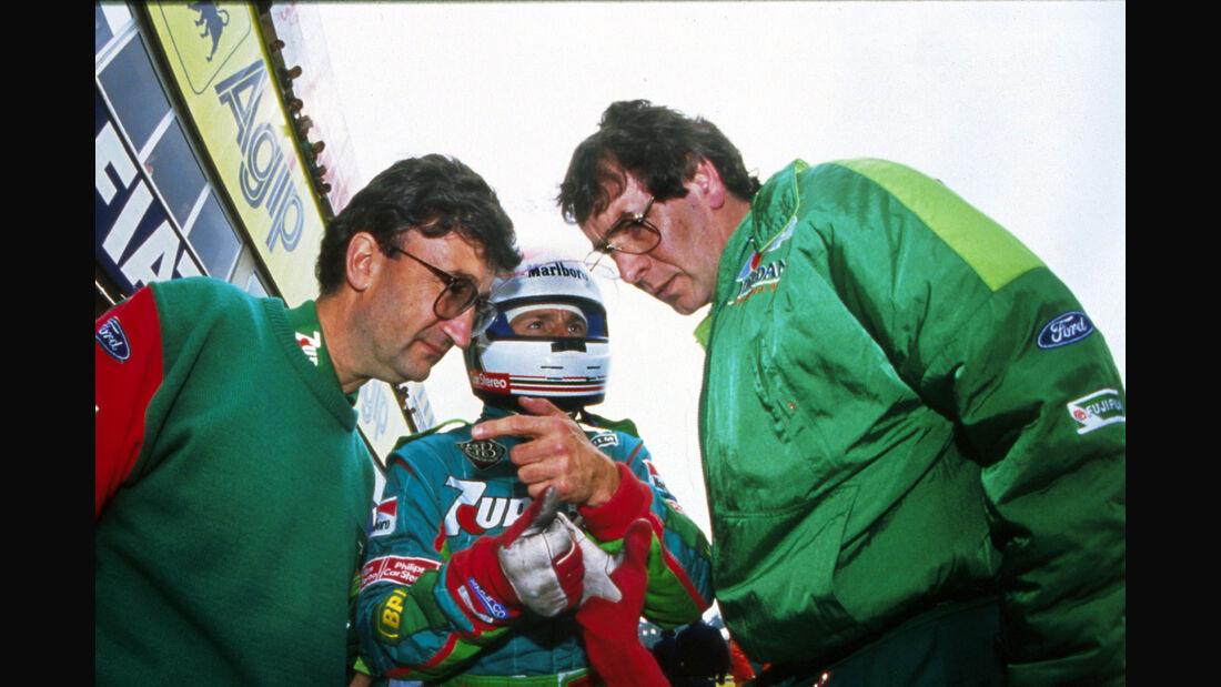 Eddie Jordan, Andrea de Cesaris & Gary Anderson - Jordan - 1991