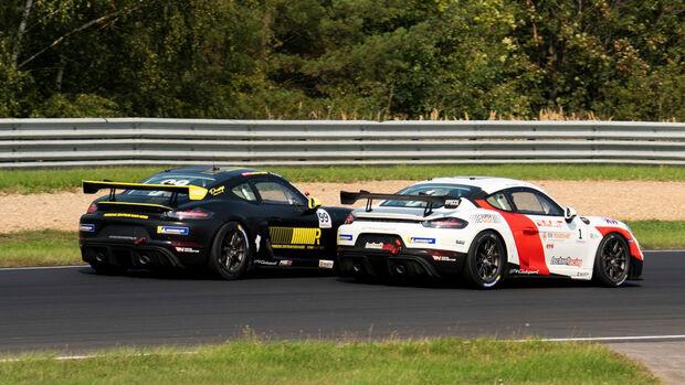 Edwin Waldhier (#1) - Sascha Halek (#2) - Porsche Cayman GT4 Clubsport
