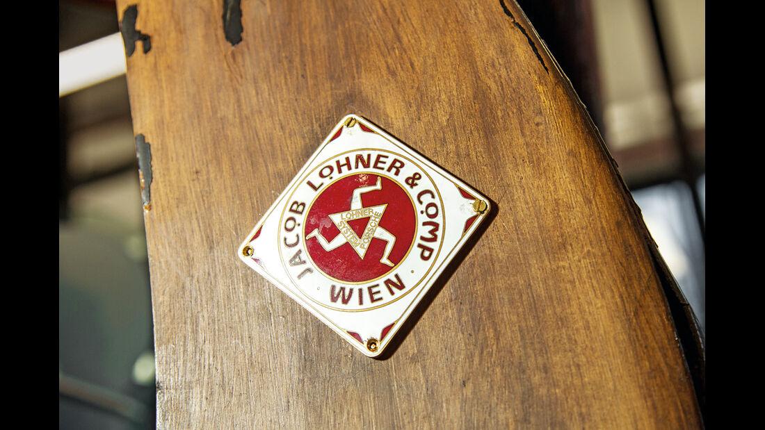 Egger-Lohner-Elektromobil, Porsche P1, Firmenetikett