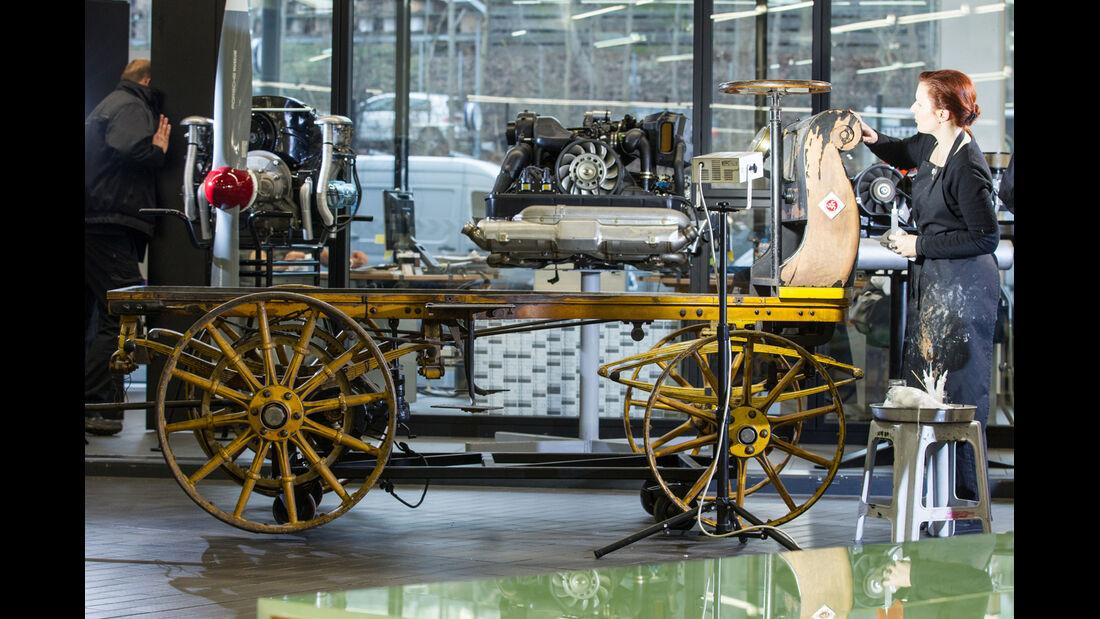 Egger-Lohner-Elektromobil, Porsche P1, Lackarbeiten