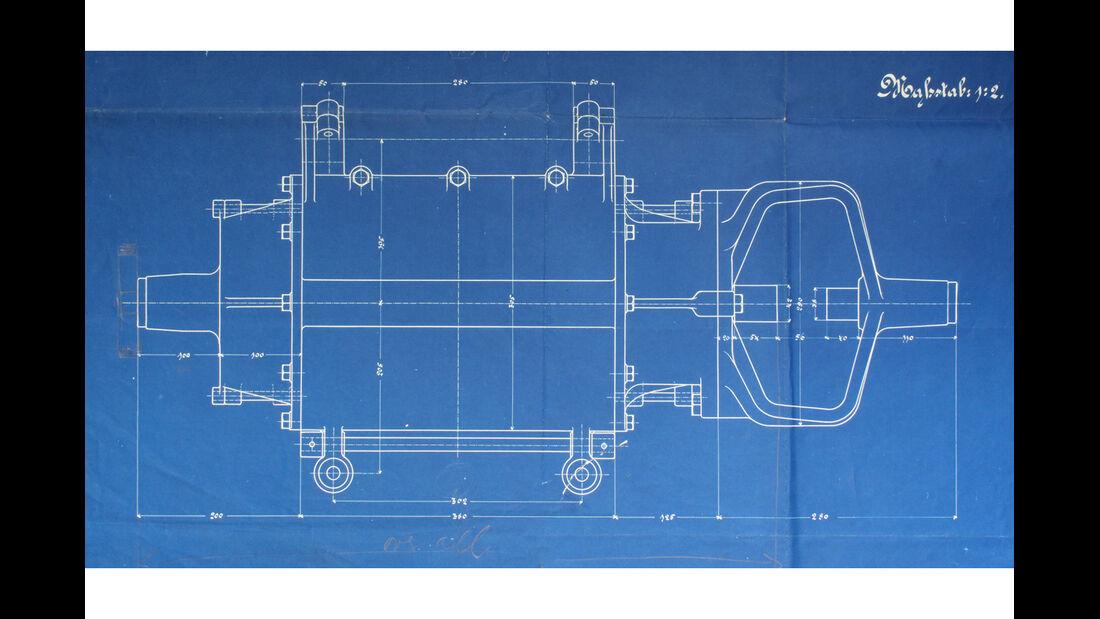 Egger-Lohner-Elektromobil, Porsche P1, Zeichnung