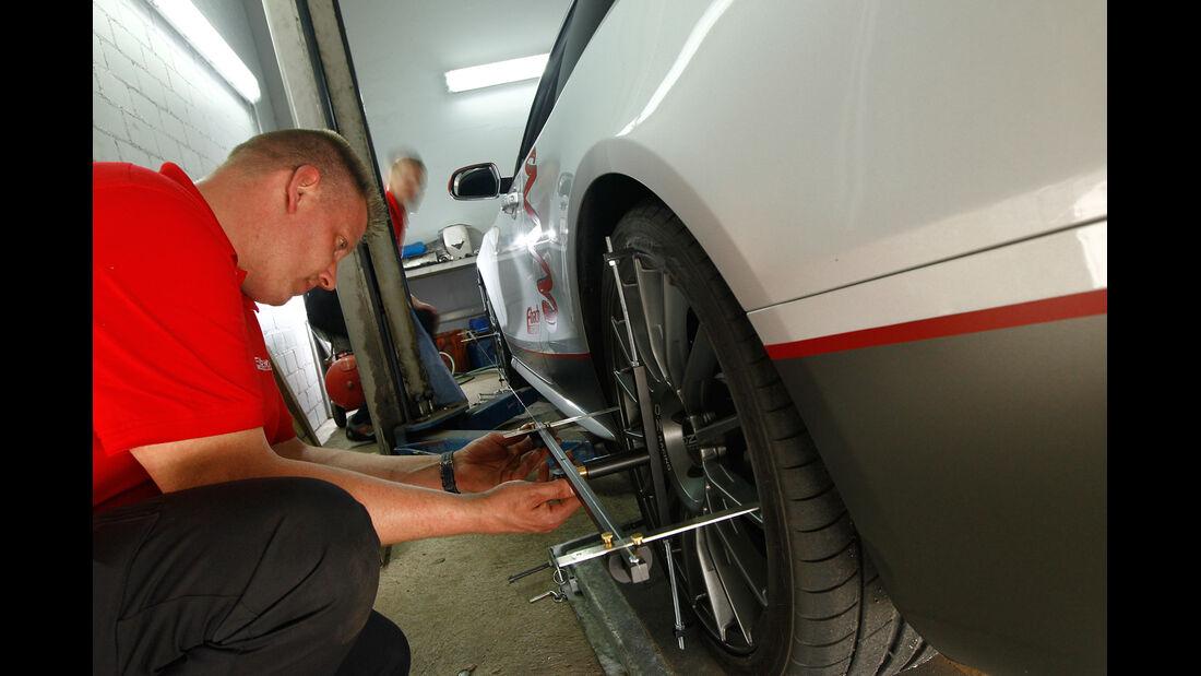Eibach-Audi S5, Fahrwerksvermessung