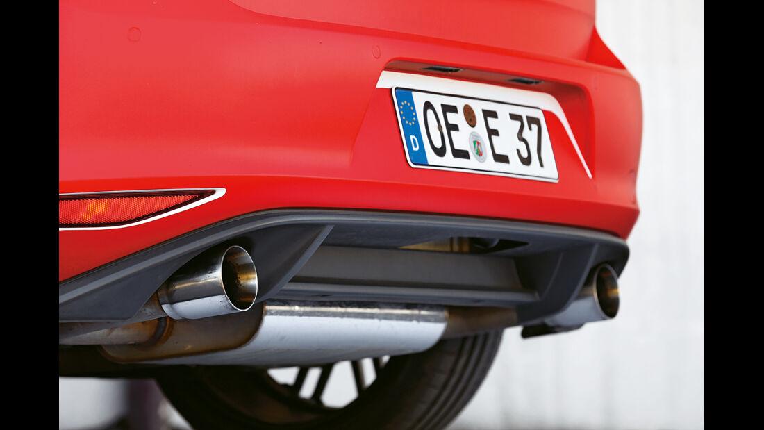 Eibach-VW Golf GTI, Heck, Endrohr