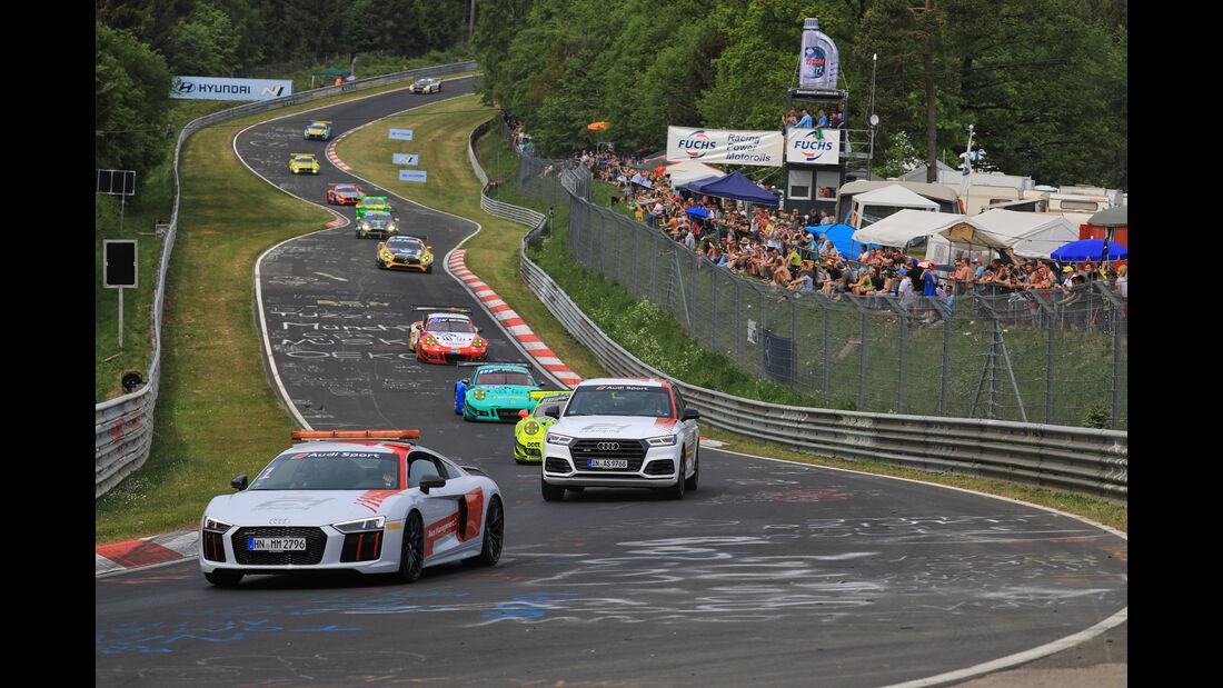 Einführungsrunde - 24h-Rennen Nürburgring - Nordschleife - Samstag - 12.5.2018