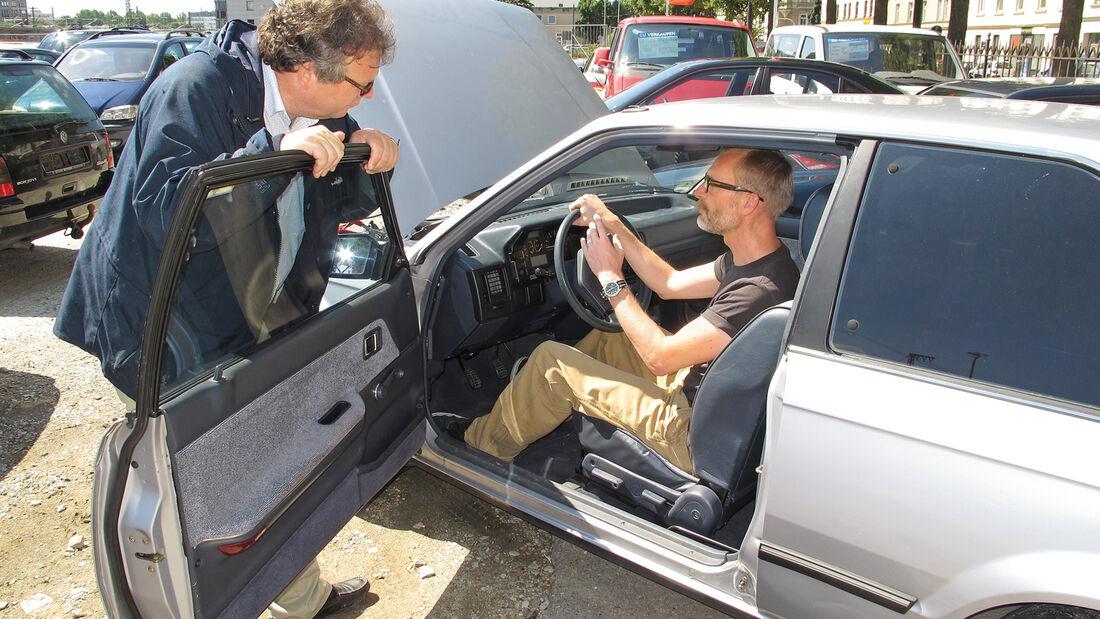 Einkaufs-Tour, Mazda 323, Typ BF, Cockpit