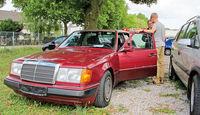 Einkaufs-Tour, Mercedes 200 E