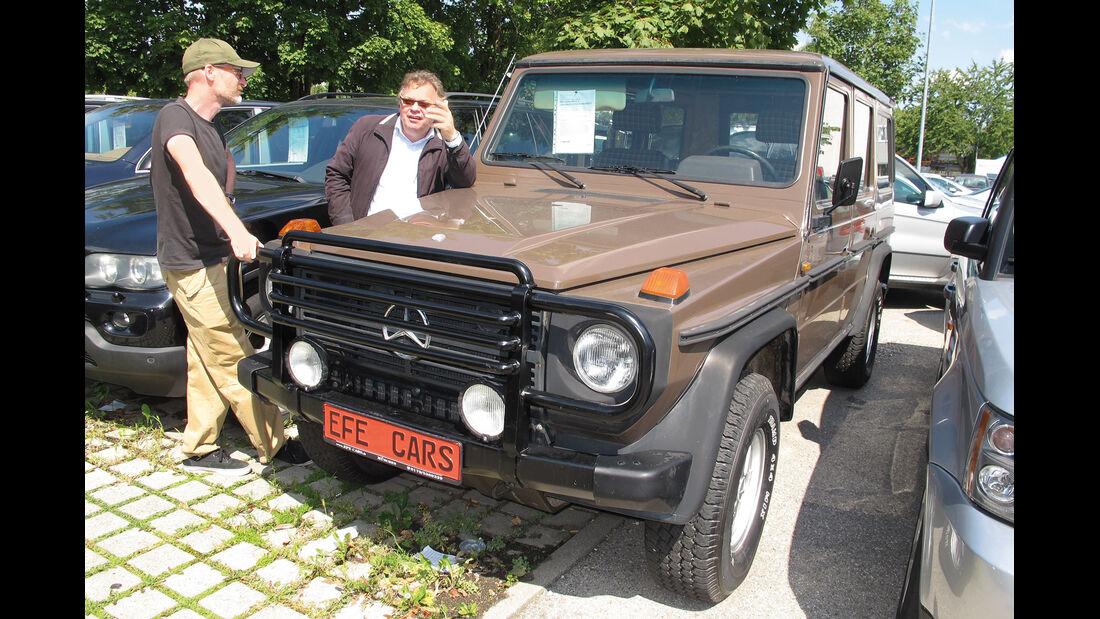 Einkaufs-Tour, Mercedes 300 GD