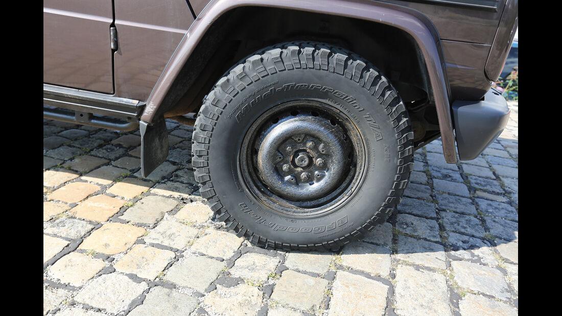 Einkaufs-Tour, Mercedes 300 GD, W 463, Rad, Felge