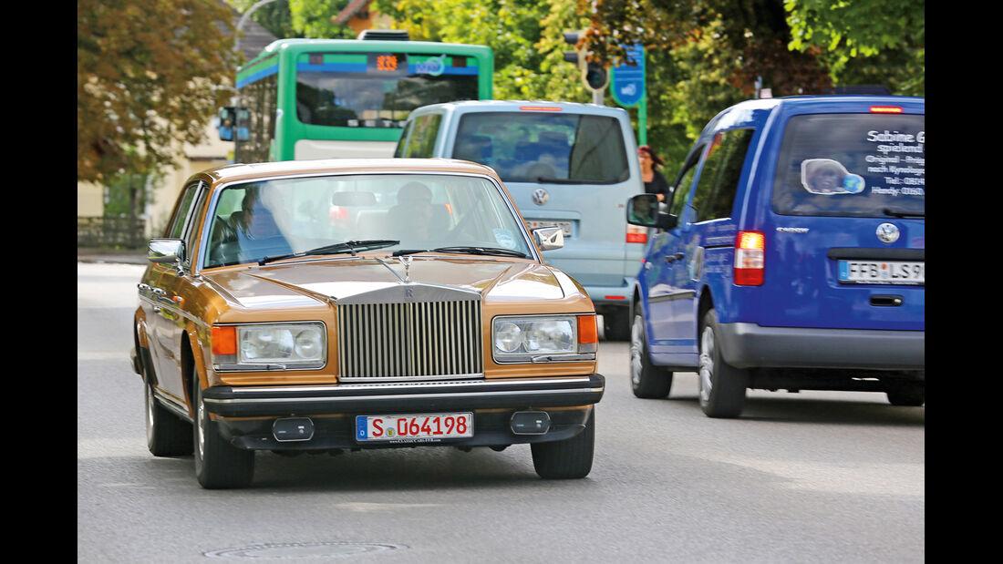 Einkaufs-Tour, Rolls-Royce Silver Spirit, Frontansicht