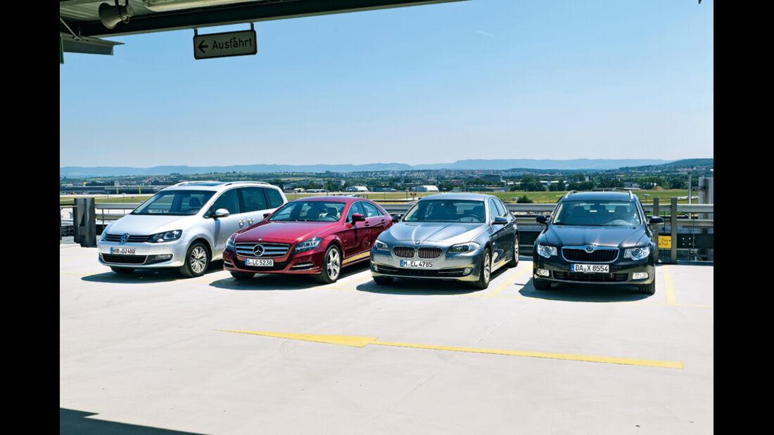 Einparksysteme, BMW, Mercedes, Skoda, VW