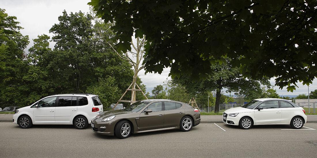 Einparktest, Porsche Panamera