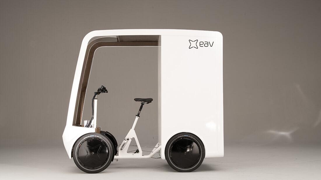 Electric Assisted Vehicles Limited (EAV) EAVan elektrisches Lastenfahrrad
