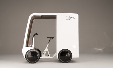 Electric Assisted Vehicles Limited (EAV) EAVan elektrisches Lastenfahrrad