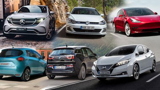 Elektroauto Hybrid Förderung Test Collage
