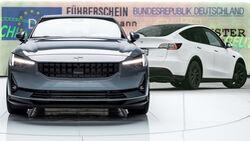 Elektroauto Polestar 2 Tesla Model Y Führerschein Prüfung Zulassung