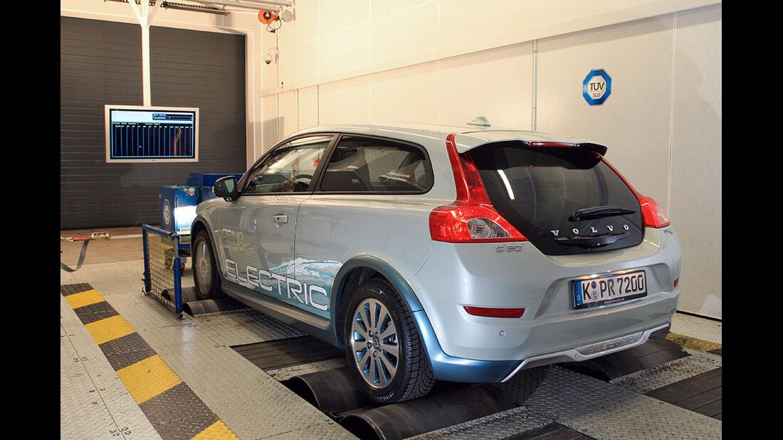 Elektroauto Volvo C30 Electric, TÜV-Prüfstand