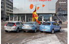 Elektroautos Nissan Leaf, Renault Fluence Z. E., Volvo C30 Electric