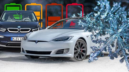 Elektroautos Reichweite Winter Kälte