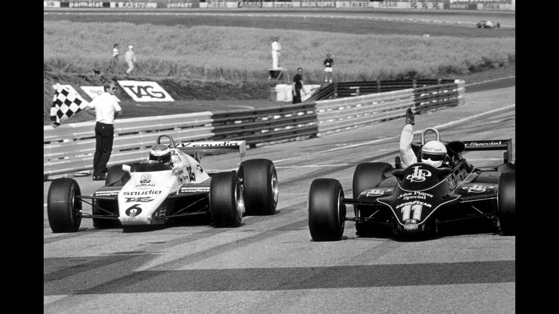 Elio de Angelis - Lotus 91 - Keke Rosberg - Williams FW08 - Österreich 1982
