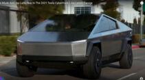 Elon Musk und Jay Leno im Tesla Cybertruck