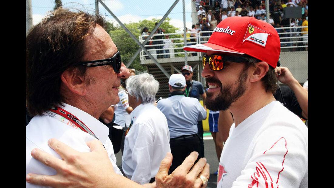 Emerson Fittipaldi - Fernando Alonso - Formel 1 - GP Brasilien - 9. November 2014