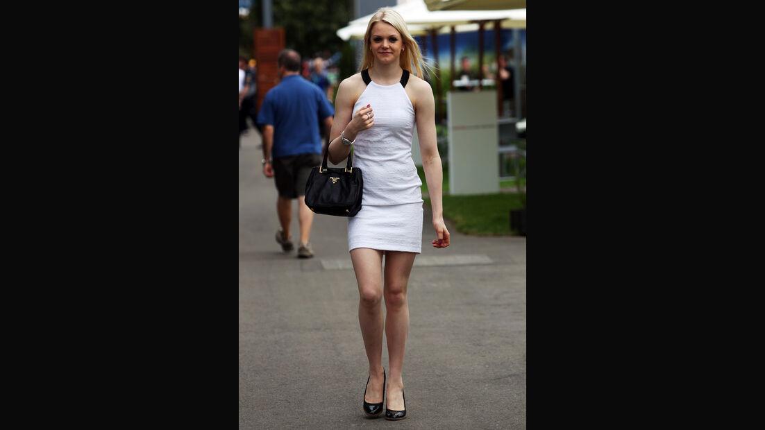 Emilia Pikkarainen (Freundin von Valtteri Bottas) - Formel 1 - GP Australien - 14. März 2013