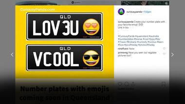 Emoji Kennzeichen Nummernschild Australien 2019