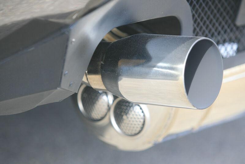 Endrohr des Lamborghini Countach Turbo S