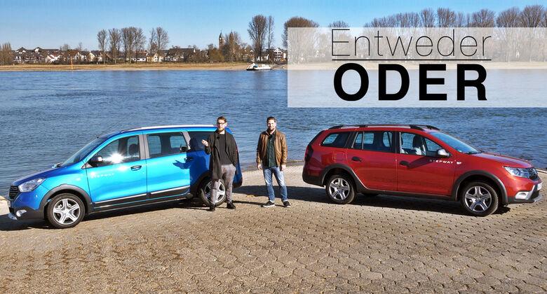 Entweder ODER Dacia Logdy Logan MCV Stepway Vergleich