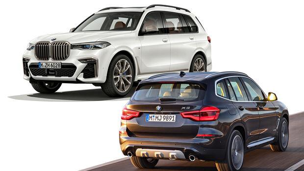 Entweder ODER Vergleich BMW X3 X5 SUV