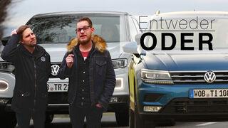 Entweder ODER Vergleich VW T-Roc Tiguan SUV