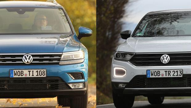 Entweder ODER Vergleich VW Volkswagen Tiguan T-Roc SUV