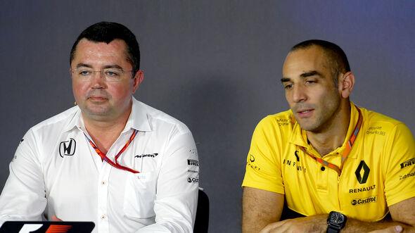 Eric Boullier & Cyril Abiteboul - Formel 1 - 2017