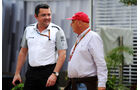 Eric Boullier & Niki Lauda - Formel 1 - GP Singapur - 19. September 2014