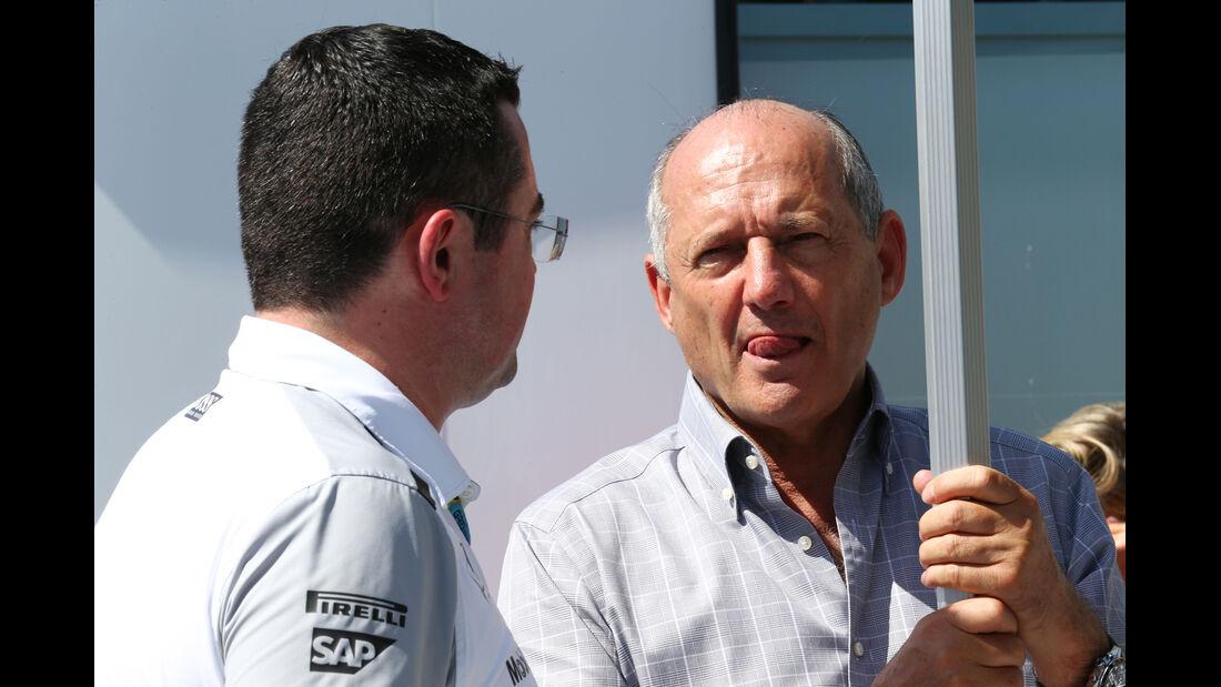 Eric Boullier & Ron Dennis - McLaren - Formel 1 - GP Kanada - Montreal - 7. Juni 2014