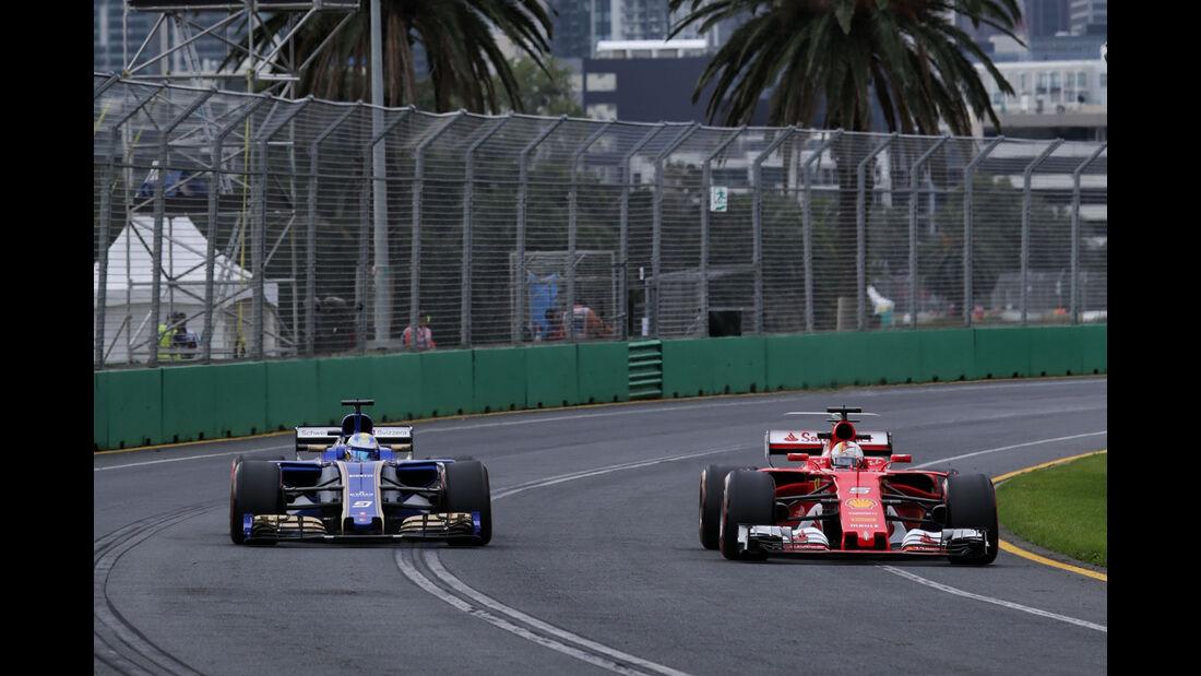 Ericsson & Vettel- GP Australien - Melbourne - 24. März 2017