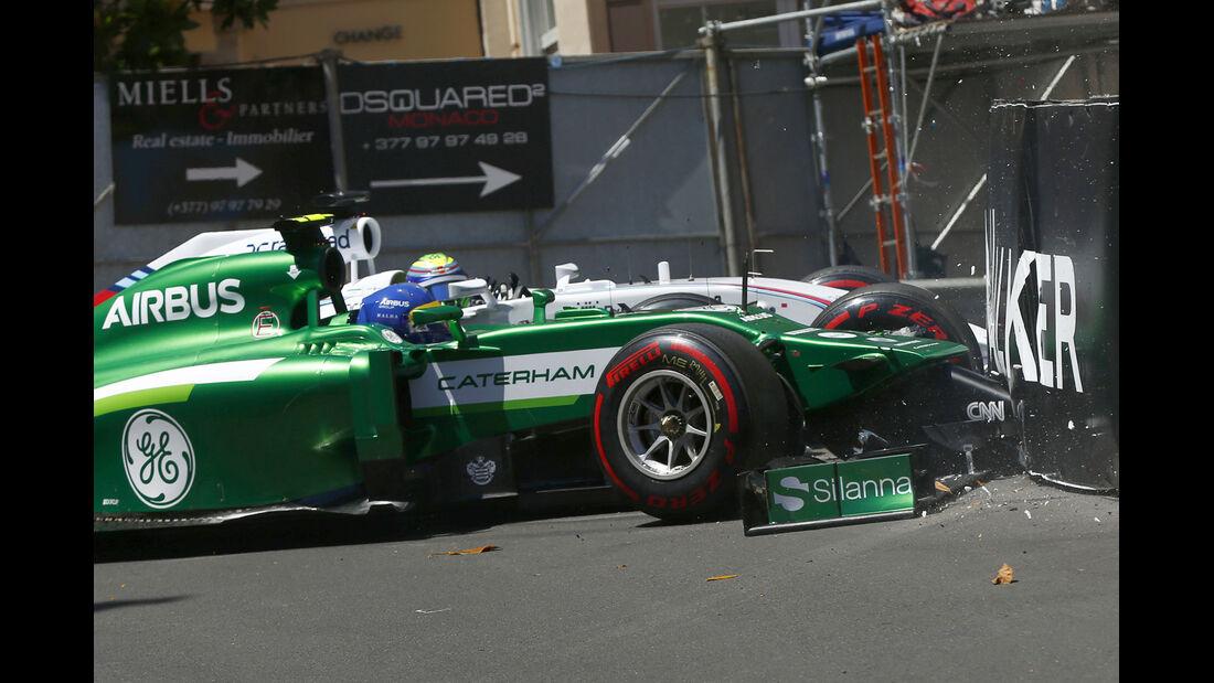 Ericsson vs. Massa - GP Monaco - Crashs 2014