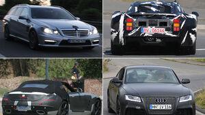 Erlk�nig Mercedes SLS Roadster, Audi RS54, McLaren P11, E-Klasse T-Modell AMG