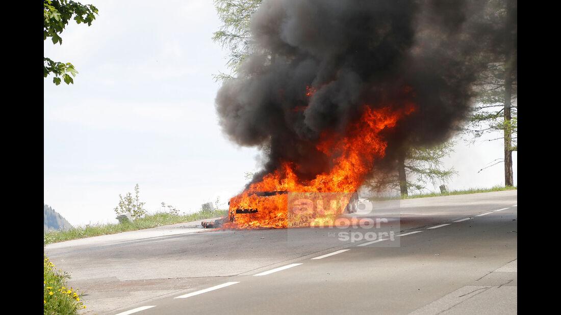 Erlkönig Audi A7 Feuer