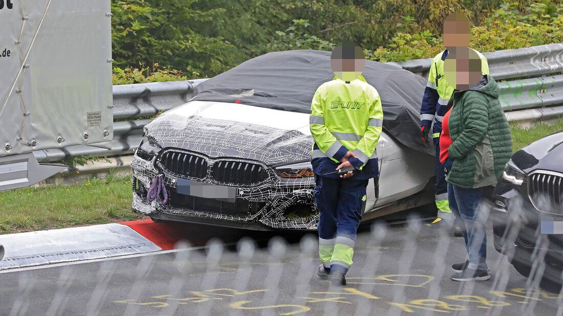 Erlkönig BMW Versuchsträger Crash