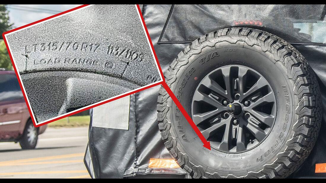 Erlkönig Ford Bronco Raptor / Warthog